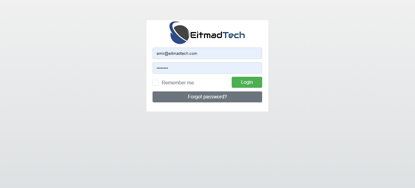 EitmadTech - Library Login Page